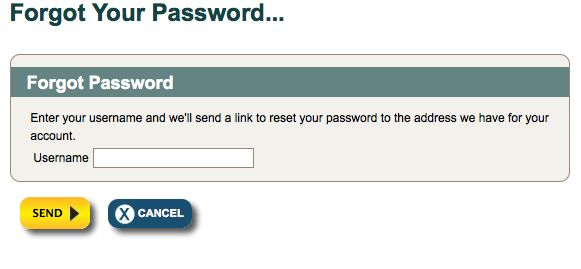 Customized Forgot Password Screen