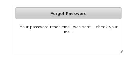 Forgot Password Sent Screen