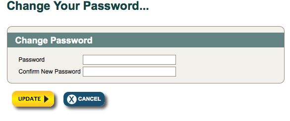 Customized Reset Password Screen