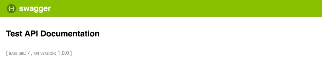 Empty Swagger API