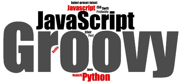 ES6, Elixir, Go, Groovy, JavaScript, Javascript, Kotlin, NodeJS, Perl, Python, R, Swift, Java 8
